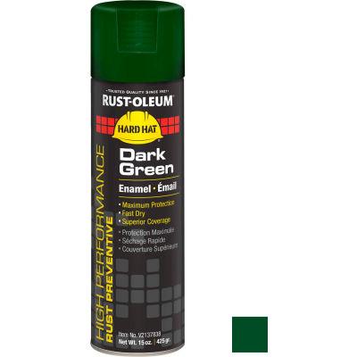 Rust-Oleum High Performance V2100 Rust Preventive Enamel Aerosol, Dark Green, 15 oz. - V2137838 - Pkg Qty 6