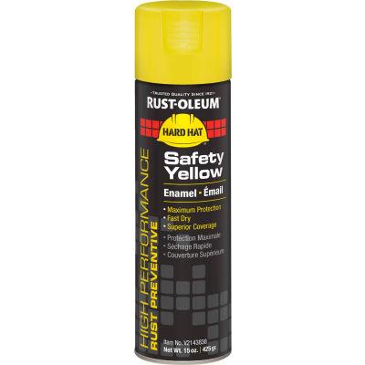Rust-Oleum High Performance V2100 Rust Preventive Enamel Aerosol, Safety Yellow, 15 oz.- V2143838 - Pkg Qty 6