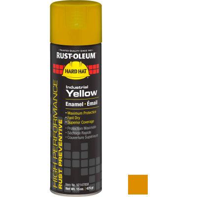 Rust-Oleum High Performance V2100 Rust Prevent Enamel Aerosol, Industrial YW, 15 oz. - V2147838 - Pkg Qty 6