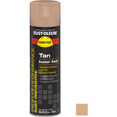 Rust-Oleum High Performance V2100 Rust Preventive Enamel Aerosol, Tan, 15 oz. - V2171838 - Pkg Qty 6