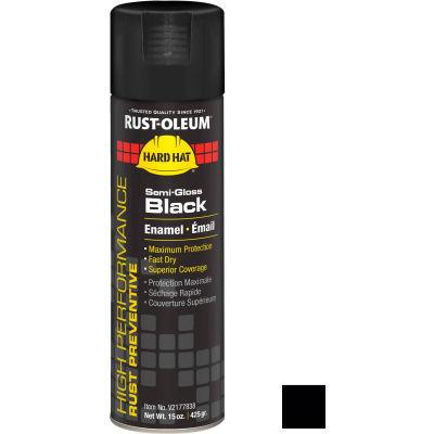 Rust-Oleum High Performance V2100 Rust Prevent Enamel Aerosol, Semi-Gloss Black, 15 oz.- V2177838 - Pkg Qty 6