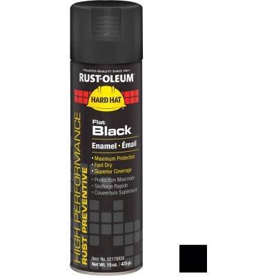 Rust-Oleum High Performance V2100 Rust Preventive Enamel Aerosol, Flat Black, 15 oz. - V2178838 - Pkg Qty 6