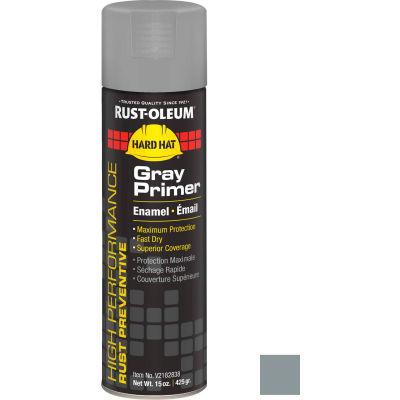 Rust-Oleum High Performance V2100 Rust Preventive Enamel Aerosol, Gray Primer, 15 oz. - V2182838 - Pkg Qty 6