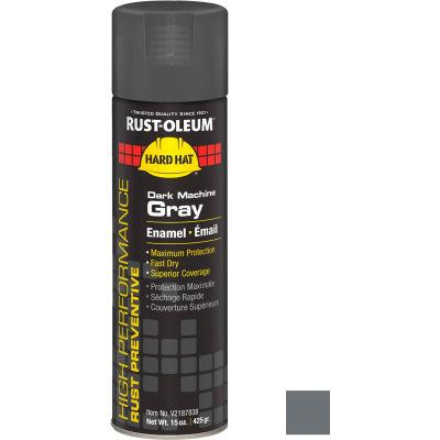 Rust-Oleum High Performance V2100 Rust Prevent Enamel Aerosol, Dark Machine GY, 15 oz. - V2187838 - Pkg Qty 6