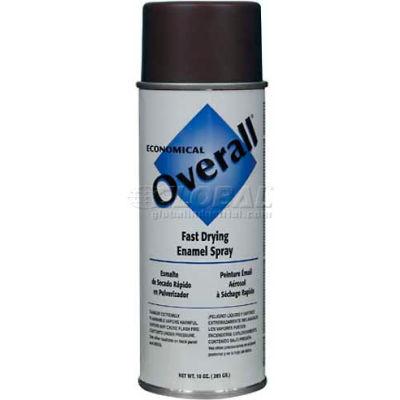 Rust-Oleum Overall Economical Enamel Aerosol, Brown, 10 oz. - V2411830 - Pkg Qty 6