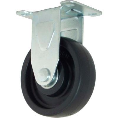 "RWM Casters 27 Series VersaTrac® 4"" Polyolefin Wheel Rigid Caster - 27-POP-0412-R"