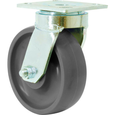 """RWM Casters 48 Series 6"""" GT Wheel with Face Contact Brake Swivel Caster - 48-GTB-0620-S-ICWB"""