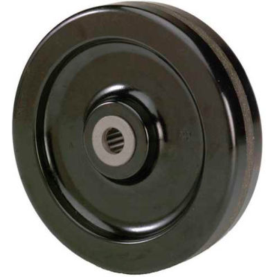 "RWM Casters 8"" x 2"" Durastan Phenolic Wheel with Roller Bearing for 1/2"" Axle - DUR-0820-08"