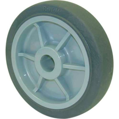 "RWM Casters 4"" x 1-1/4"" Performance TPR Wheel with Ball Bearing for 3/8"" Axle - RPB-0412-06"