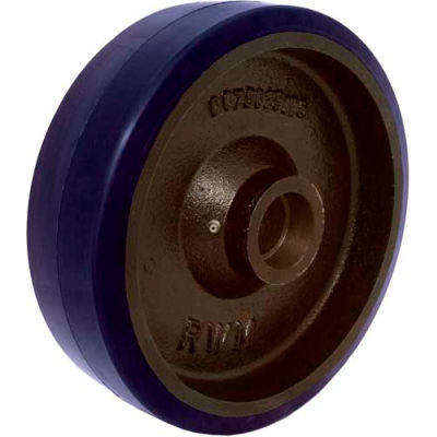 """RWM Casters 5"""" x 1-1/2"""" Urethane on Iron Wheel with Roller Bearing for 1/2"""" Axle - UIR-0515-08"""