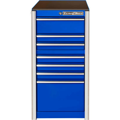 """Extreme Tools RX192507SBBL Extreme Tools Professional 19""""W x 25""""D x 39-1/4""""H 7 Drawer Blue Side Box"""