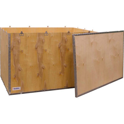 "Global Industrial™ 4-Panel Hinged Shipping Crate with Lid, 48"" x 30"" x 30"" O.D."