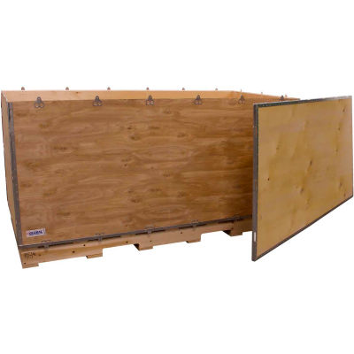 """Global Industrial™ 6-Panel Shipping Crate with Lid & Pallet, 72"""" x 36"""" x 36"""" O.D."""