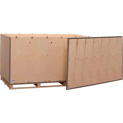 """Global Industrial™ 6 Panel Shipping Crate with Lid & Pallet, 83-1/4""""L x 47-1/4""""W x 42-1/2""""H"""
