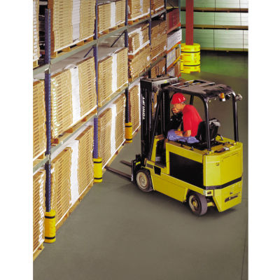 """Rack Sentry® Rack Protector, 3-1/2"""" x 3"""" Opening, 18""""H, Yellow"""