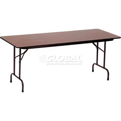 "Correll Folding Table - Melamine - 36"" x 96"" - Walnut"