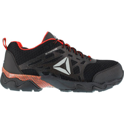 Reebok® RB1061 Men's Beamer Black and Red Athletic Oxford, Black/Red, Size 14 M