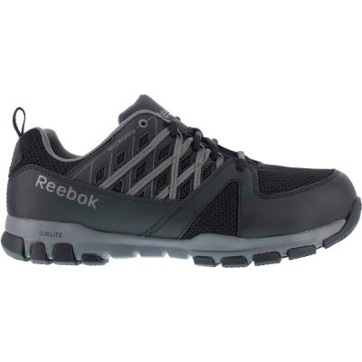 Reebok® RB416-W-6.5 Sublite Athletic Oxford Shoe, Steel Toe, Size 6.5