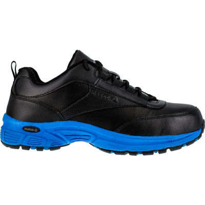Reebok® RB4830 Men's Ateron Black and Blue Sport Oxford, Black/Blue, Size 10.5 W