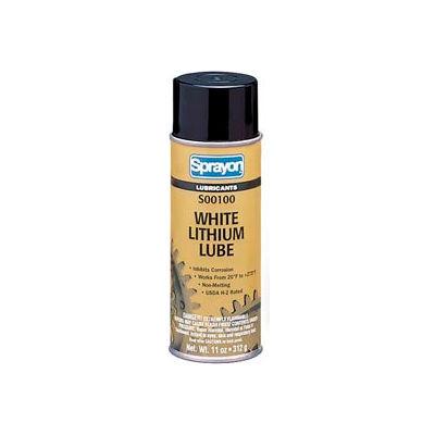 Sprayon LU100 White Lithium Grease, 11 oz. Aerosol Can - SC0100000 - Pkg Qty 12