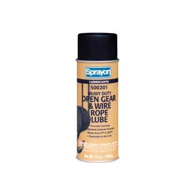 Sprayon LU201 Open Gear & Wire Rope Lubricant, 12 oz. Aerosol Can - SC0201000 - Pkg Qty 12