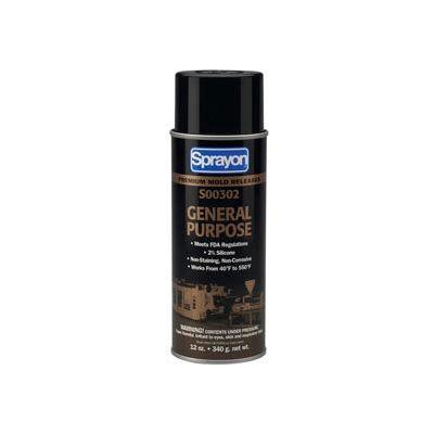 Sprayon MR302 General Purpose Release Agent, 12 oz. Aerosol Can - SC0302000 - Pkg Qty 12