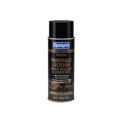 Sprayon MR314 Paintable Lecithin Release Agent, 12 oz. Aerosol Can - SC0314000 - Pkg Qty 12