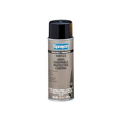 Sprayon SP322 Vinyl Removable Coating, 12 oz. Aerosol Can - s00322000 - Pkg Qty 12