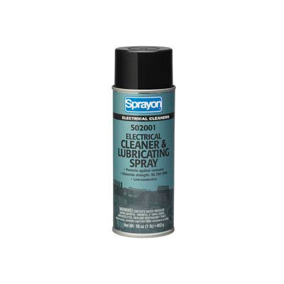 Sprayon El2001 Electronic Contact Cleaner & Protectant, 16 oz. Aerosol Can - S02001000 - Pkg Qty 12