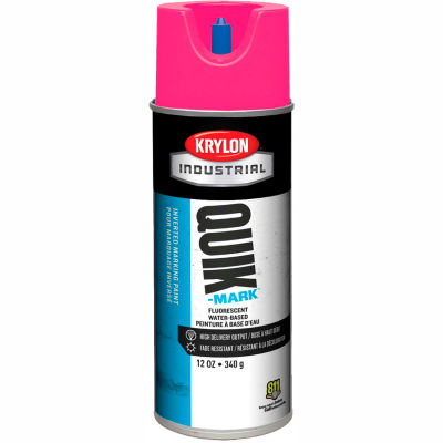 Krylon Industrial Quik-Mark Wb Inverted Marking Paint Fluorescent Pink - A03612004 - Pkg Qty 12
