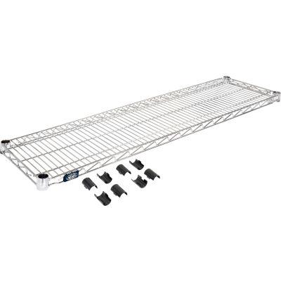 """Nexel® S1248C Chrome Wire Shelf 48""""W x 12""""D"""