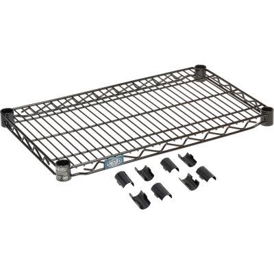 """Nexel® S1424B Black Epoxy Wire Shelf 24""""W x 14""""D"""