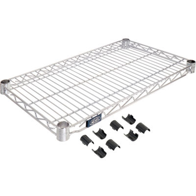"""Nexel® Chrome Wire Shelf, 24""""W x 14""""D"""