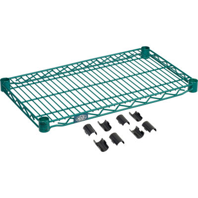 "Nexel® S1424G Poly-Green® Epoxy Wire Shelf 24""W x 14""D"