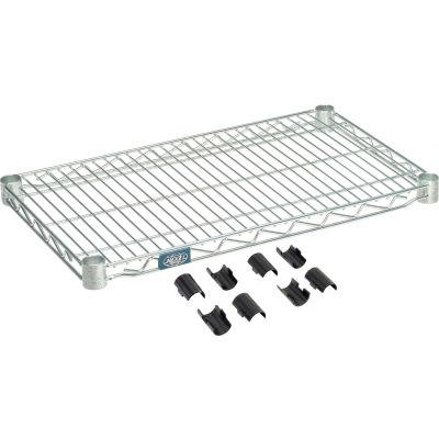"""Nexel® S1424Z Poly-Z-Brite® Wire Shelf 24""""W x 14""""D"""