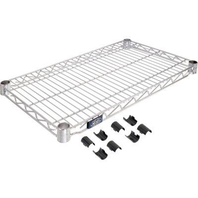 """Nexel® S1430C Chrome Wire Shelf 30""""W x 14""""D"""