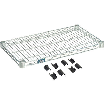 "Nexel® S1430Z Poly-Z-Brite® Wire Shelf 30""W x 14""D"