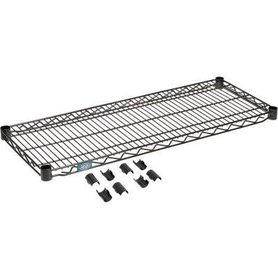 """Nexel® S1436B Black Epoxy Wire Shelf 36""""W x 14""""D"""