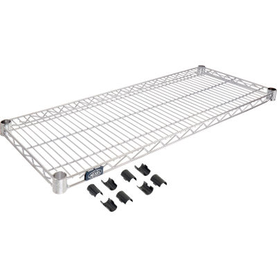 Nexel® Stainless Steel Wire Shelf 36 x 18 with Clips