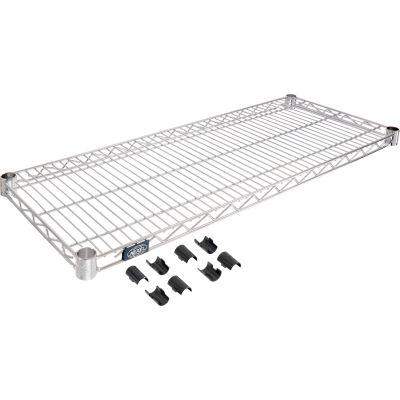"""Nexel® S1842Z Poly-Z-Brite® Wire Shelf 42""""W x 18""""D"""