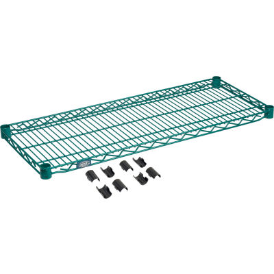 "Nexel® S1436G Poly-Green® Epoxy Wire Shelf 36""W x 14""D"