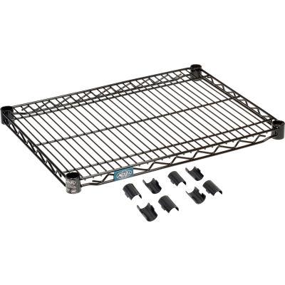 """Nexel® S1824B Black Epoxy Wire Shelf 24""""W x 18""""D"""