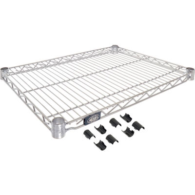 "Nexel® S1824C Chrome Wire Shelf 24""W x 18""D"