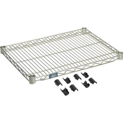"""Nexel® S1830Z Poly-Z-Brite® Wire Shelf 30""""W x 18""""D"""