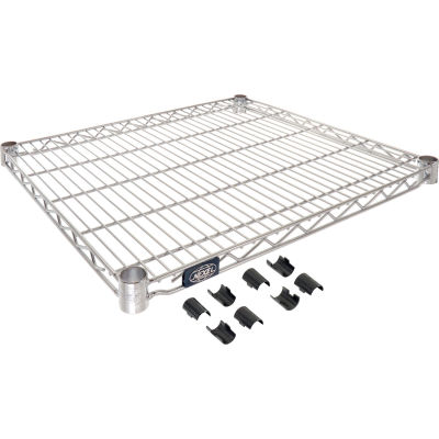 "Nexel® S2124C Chrome Wire Shelf 24""W x 21""D"