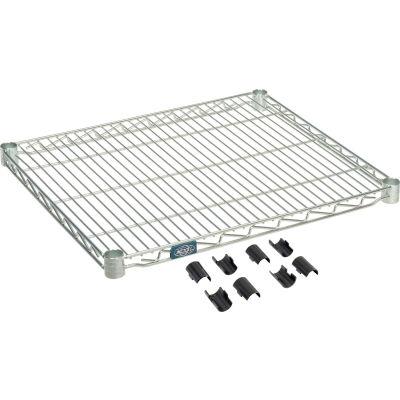 """Nexel® S2124Z Poly-Z-Brite® Wire Shelf 24""""W x 21""""D"""