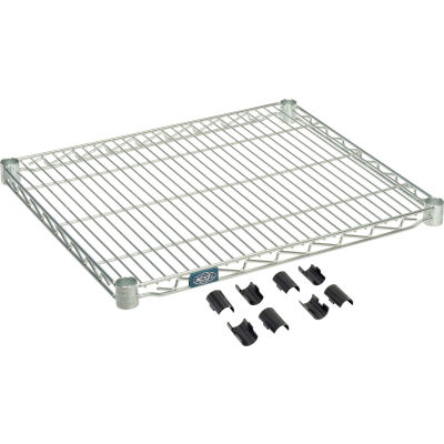 "Nexel® S2124Z Poly-Z-Brite® Wire Shelf 24""W x 21""D"