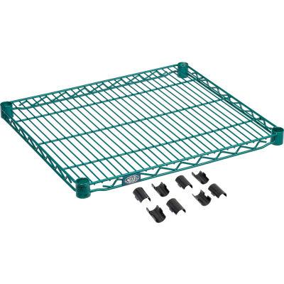 """Nexel® S2130G Poly-Green® Epoxy Wire Shelf 30""""W x 21""""D"""