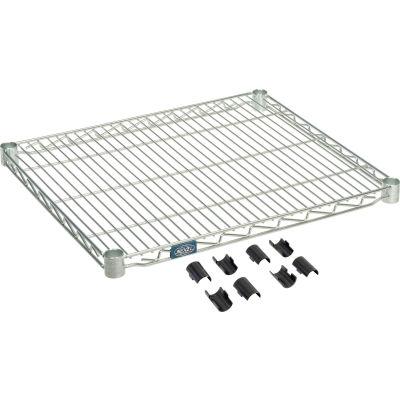 """Nexel® S2130Z Poly-Z-Brite® Wire Shelf 30""""W x 21""""D"""