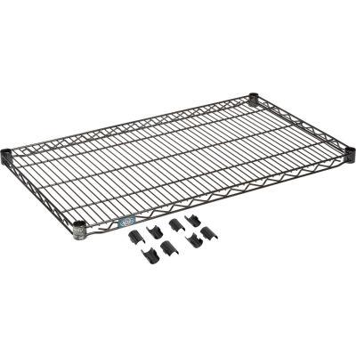 """Nexel® S2136B Black Epoxy Wire Shelf 36""""W x 21""""D"""